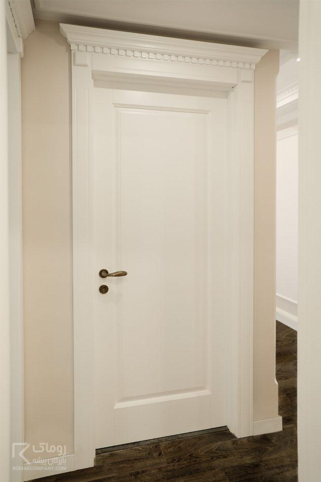 درب چوبی اداری