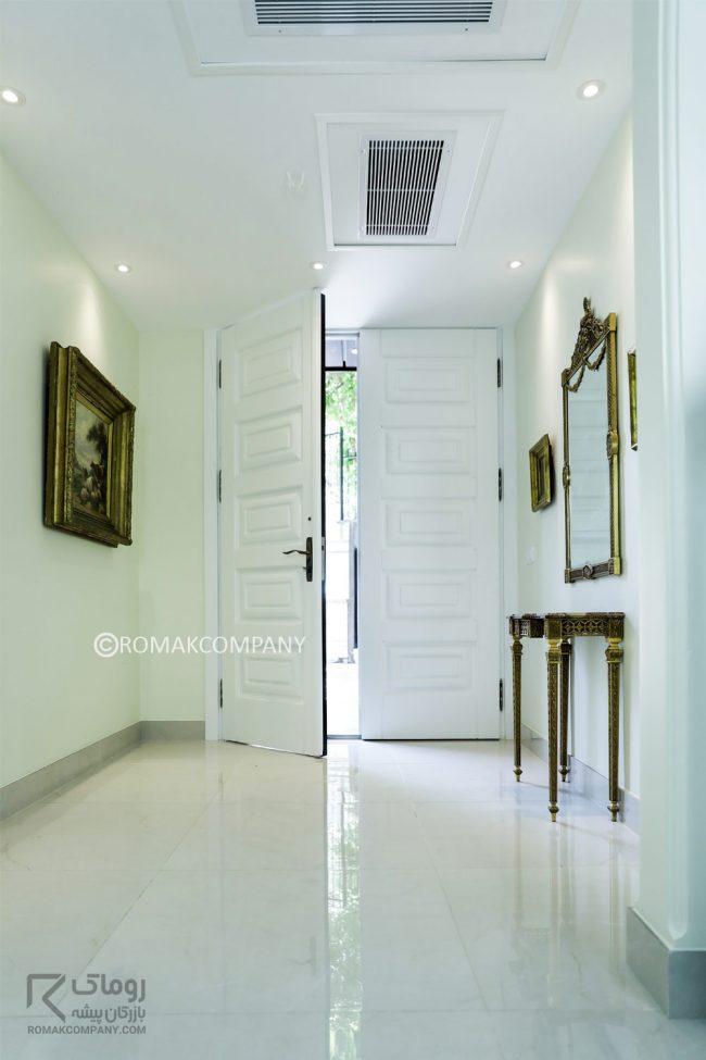 درب ورودی لوکس سفید