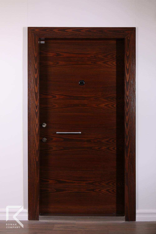 درب ضد سرقت چوبی روکشی