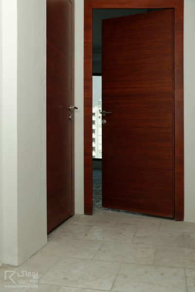 درب مدرن با روکش بلوط