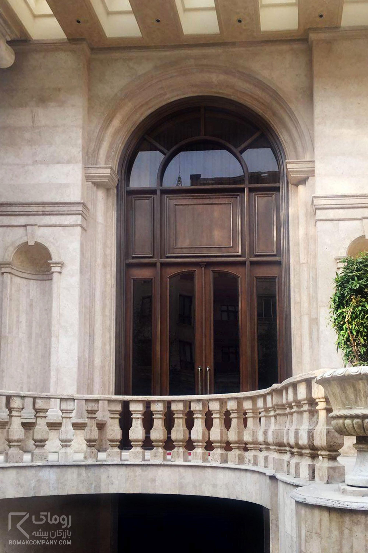 درب لابی لوکس چوبی