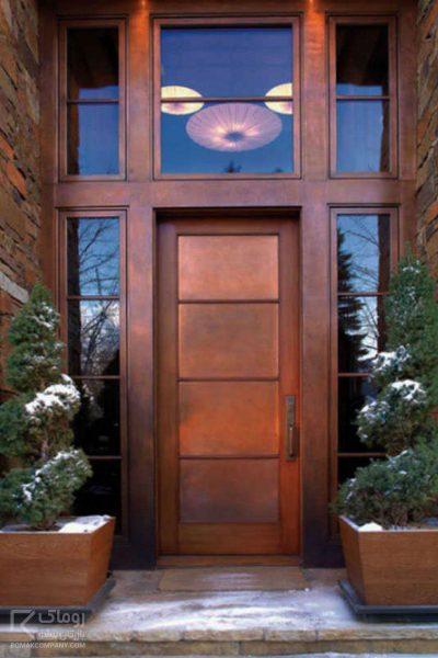 درب لابی چوبی قابدار