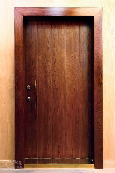 درب ضد سرقت تمام چوب