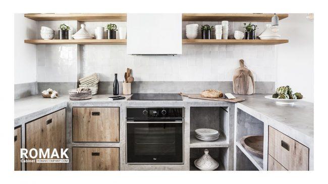 کابینت آشپزخانه بتنی