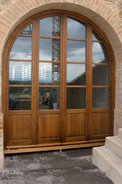 درب چوبی ورودی هال