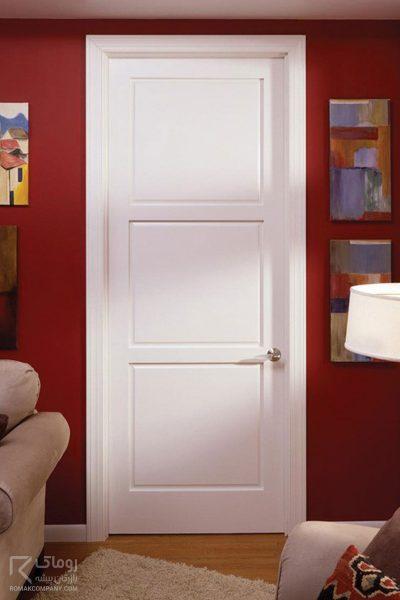 درب سه قاب سفید رنگ