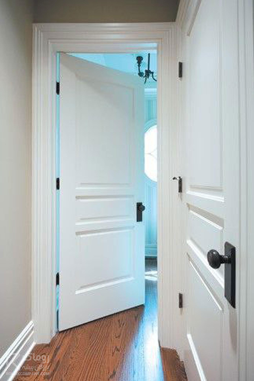 درب چوبی سفید