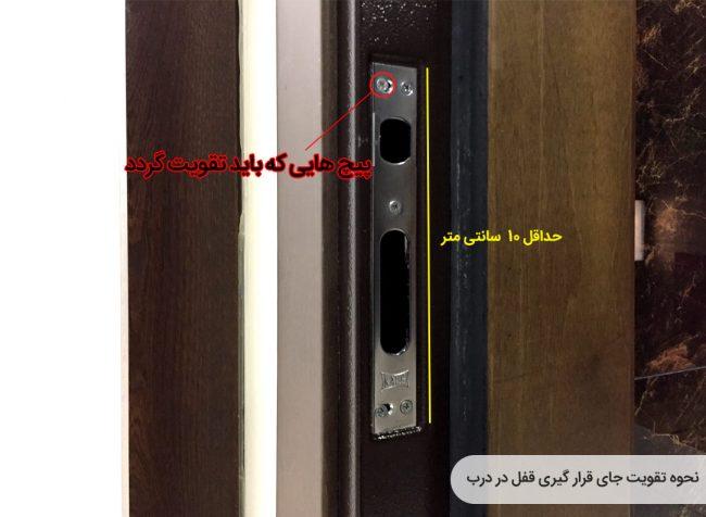 ایمن سازی قفل درب