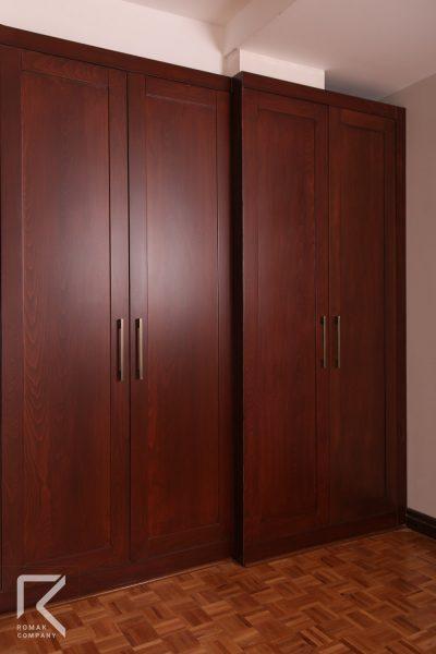 کمد ساده چوبی اتاق خواب
