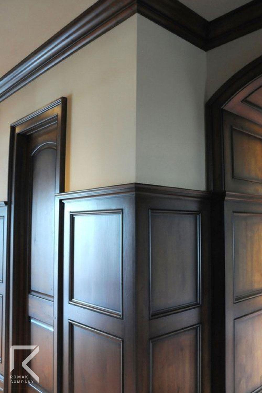 دیوارپوش قهوه ای چوبی